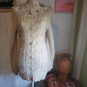H&M coll. moher cable open knit tunic sweater new